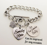 Personalized  Chain Bracelet For Any Occasion - Boxed